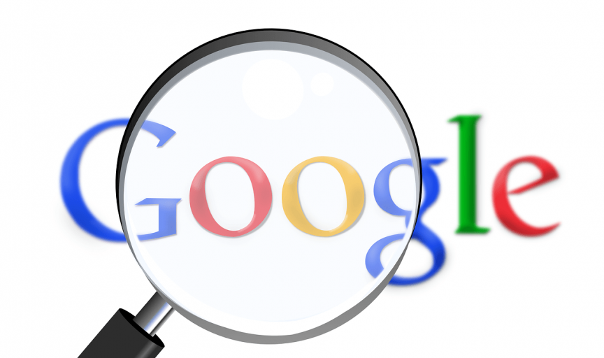 Google in magnifying glass